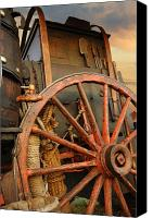 Chuck Wagon Canvas Prints - Big Wheel Canvas Print by Robert Anschutz