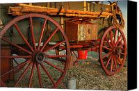 Chuck Wagon Canvas Prints - Big Wheels Canvas Print by Robert Anschutz