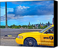 Hyper-realism Canvas Prints - Big Yellow Taxi Canvas Print by Marianne Campolongo