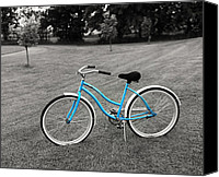 Selective Color Canvas Prints - Bike in the Park Canvas Print by Brian Mollenkopf