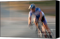 Impression Canvas Prints - Bike Race 1 Canvas Print by Catherine Lau