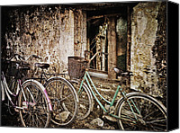 Skip Nall Canvas Prints - Bikes and a Window Canvas Print by Skip Nall