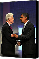 At A Public Appearance Canvas Prints - Bill Clinton, Barack Obama At A Public Canvas Print by Everett