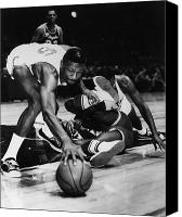 Los Angeles Lakers Canvas Prints - Bill Russell (1934- ) Canvas Print by Granger