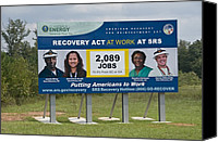 Bswh052011 Canvas Prints - Billboard Advertising The Obama Canvas Print by Everett