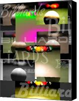 Billiard Digital Art Canvas Prints - Billiards Canvas Print by Andre  Persun