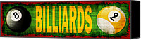 Billiard Digital Art Canvas Prints - Billiards Canvas Print by David G Paul