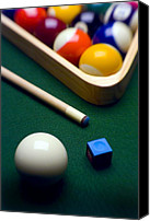 Yellow Canvas Prints - Billiards Canvas Print by Tony Cordoza