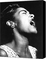 Flk Canvas Prints - Billie Holiday (1915-1959) Canvas Print by Granger