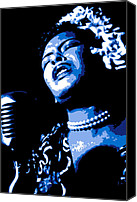 Singer Digital Art Canvas Prints - Billie Holiday Canvas Print by Dean Caminiti