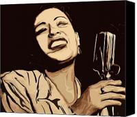 And Canvas Prints - Billie Holiday Canvas Print by Jeff DOttavio