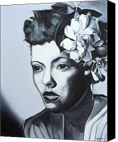 Singer Painting Canvas Prints - Billie Holiday Canvas Print by Kaaria Mucherera