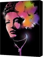 Legend Canvas Prints - Billie Holiday Canvas Print by Paul Sachtleben