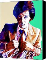 1970 Canvas Prints - Billy Joel - New York State of Mind Canvas Print by David Lloyd Glover
