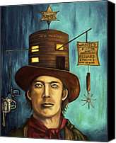 Bandana Canvas Prints - Billy The Kid Canvas Print by Leah Saulnier The Painting Maniac