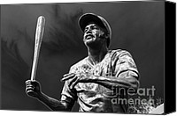 Williams Canvas Prints - Billy Williams - H O F Canvas Print by David Bearden