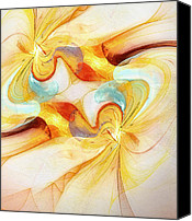 Swirl Digital Art Canvas Prints - Binarii Stella Canvas Print by Scott Norris