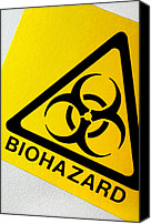 Microbiology Canvas Prints - Biohazard Symbol Canvas Print by Tim Vernon, Nhs Trust