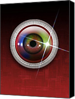 Biometric Canvas Prints - Biometric Eye Scan, Artwork Canvas Print by Victor Habbick Visions