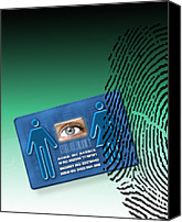 Biometric Canvas Prints - Biometric Id Card Canvas Print by Victor Habbick Visions