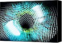 Biometric Canvas Prints - Biometric Identification Canvas Print by Pasieka