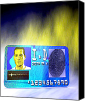 Biometric Canvas Prints - Biometric Identity Card, Artwork Canvas Print by Christian Darkin