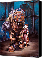 Emily Jones Canvas Prints - Bioshock Canvas Print by Emily Jones