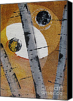 Silver Moonlight Canvas Prints - Birch - Gold 4 Canvas Print by Jacqueline Athmann