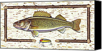 Birch Canvas Prints - Birch Walleye Canvas Print by JQ Licensing