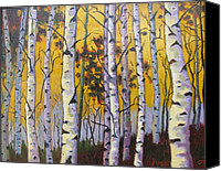 Dan Fusco Canvas Prints - Birches Canvas Print by Dan Fusco