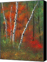Trees Pastels Canvas Prints - Birches II Canvas Print by Garry McMichael