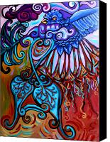 Stretched Canvas Prints - Bird Heart II Canvas Print by Genevieve Esson
