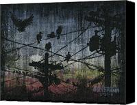 Power Lines Canvas Prints - Birds 2 Canvas Print by Arleana Holtzmann