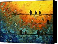 Huge Painting Canvas Prints - Birds of a Feather Canvas Print by Megan Duncanson