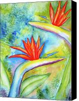 Carlin Blahnik Painting Canvas Prints - Birds of Paradise Canvas Print by Carlin Blahnik