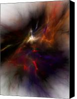 Fine Art Fractal Art Canvas Prints - Birth of a thought Canvas Print by David Lane