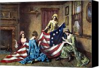 American Flag Canvas Prints - Birth Of The Flag Canvas Print by Granger