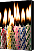 Heat Canvas Prints - Birthday candles Canvas Print by Garry Gay