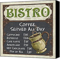 Latte Canvas Prints - Bistro Chalkboard  Canvas Print by Debbie DeWitt
