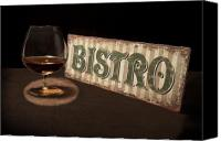 Signage Photo Canvas Prints - Bistro Still Life I Canvas Print by Tom Mc Nemar
