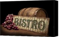 Signage Photo Canvas Prints - Bistro Still Life IV Canvas Print by Tom Mc Nemar