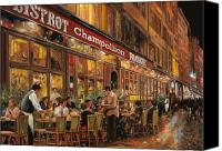 Street Scene Canvas Prints - Bistrot Champollion Canvas Print by Guido Borelli