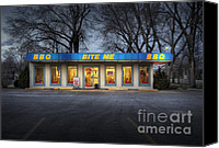 Diners Canvas Prints - Bite Me BBQ Canvas Print by Fred Lassmann