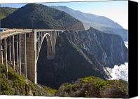 Northern California Photo Canvas Prints - Bixby Bridge Crossing a Chasm Canvas Print by David Buffington