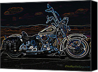 Eric Dee Canvas Prints - Black and Blue Canvas Print by Eric Dee