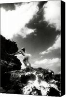 Woman And Nature Canvas Prints - Black and White Nude 014 Canvas Print by Manolis Tsantakis