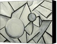 Fred Smilde Canvas Prints - Black and White Still Life- Masquerading as a Face Canvas Print by Fred Smilde