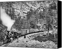 Pioneers Canvas Prints - BLACK HILLS and FORT PIERRE RAILROAD c. 1890 Canvas Print by Daniel Hagerman
