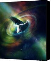 Nebula Canvas Prints - Black Hole Canvas Print by Karen Koski