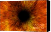 Incandescent Canvas Prints - Black Hole Canvas Print by Michal Boubin